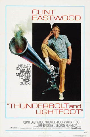 An original movie poster for the film Thunder and Lightfoot