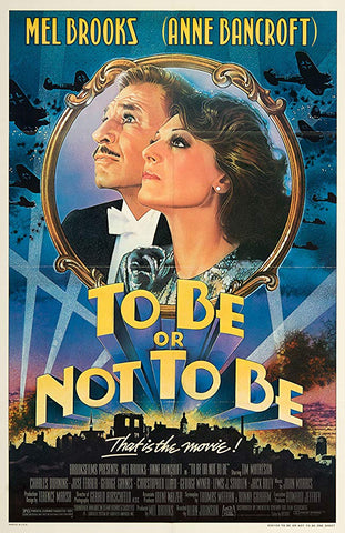 An original movie poster for the film To Be Or Not To Be