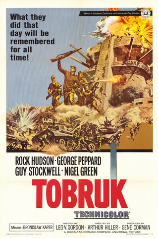 A movie poster by Frank McCarthy for the film Tobruk