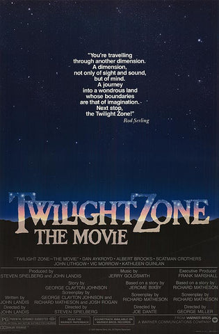 An original movie poster for the film The Twilight Zone by John Alvin