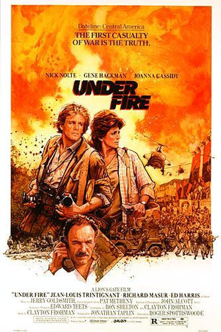 An original movie poster for the film Under Fire