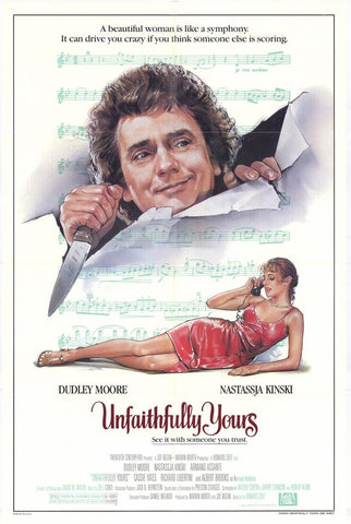 An original movie poster for the film Unfaithfully Yours