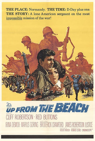 A movie poster by Frank McCarthy for the film Up From The Beach