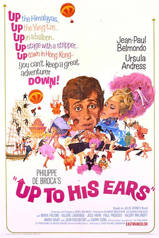 An original movie poster for the film Up To His Ears