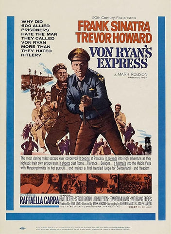 A movie poster by Frank McCarthy for the film Von Ryan's Express