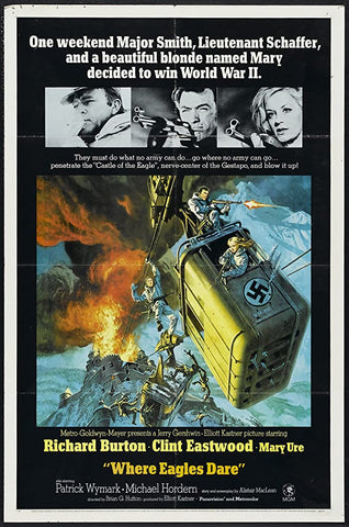 A movie poster by Frank McCarthy for the film Where Eagles Dare