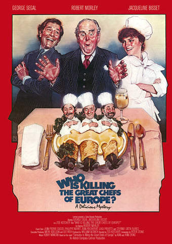 An original movie poster for the film Who Is Killing the Great Chefs of Europe