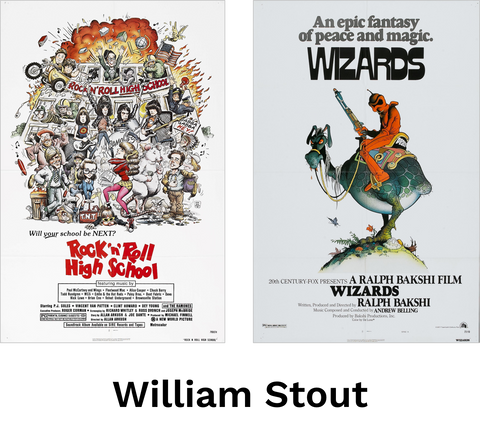 Movie posters by William Stout