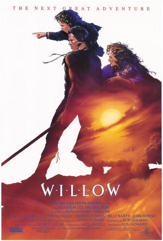 An original movie poster for the film Willow by John Alvin