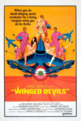 An original movie poster for the film Winged Devils