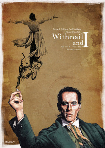 Mark Levy's wonderful alternative movie poster for Withnail and I (traffikcone.info)