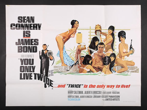An original UK quad movie poster for the James Bond film You Only Live Twice