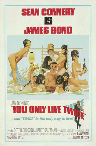 An original movie poster for the James Bond film You Only Live Twice
