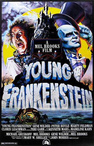 An original movie poster for Young Frankenstein by John Alvin