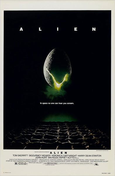 An original movie poster for the film Alien