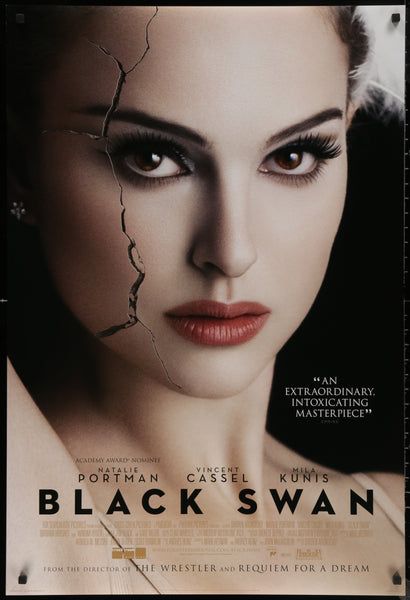 An original movie poster for the film Black Swan