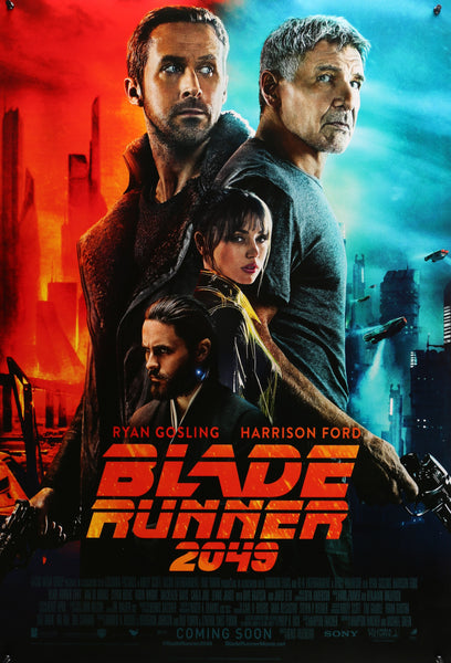 An original movie poster for the film Blade Runner 2049