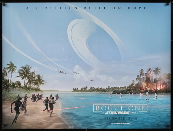 An original Quad movie poster for the Star Wars film Rogue One