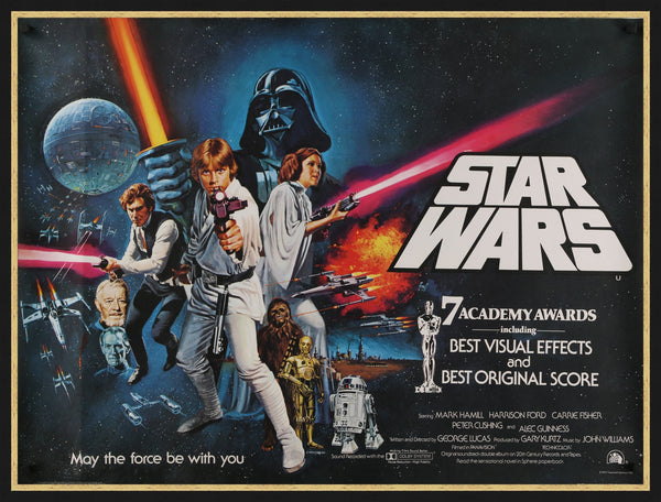 An original movie poster for the film Star Wars from 1977