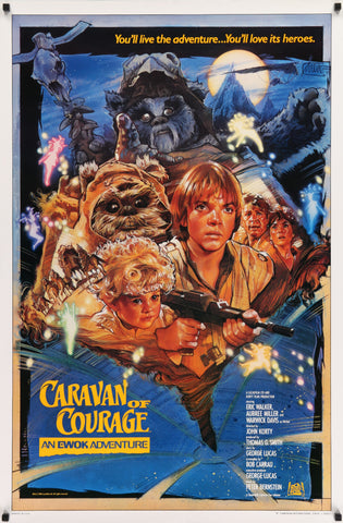 An original movie poster for the Star Wars film Caravan of Courage
