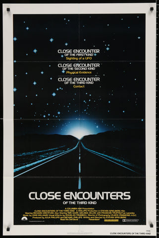 An original movie poster for Close Encounters of the Third Kind