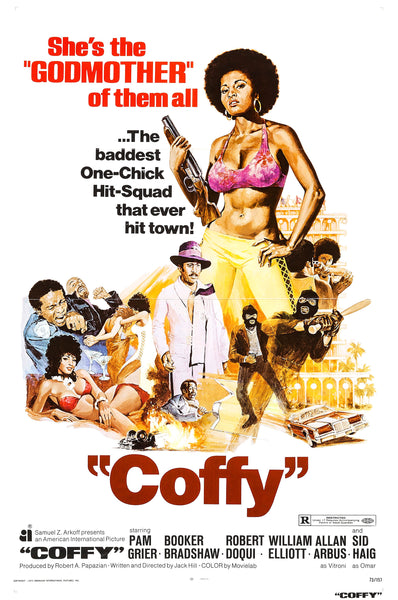 An original movie poster for the film Coffy