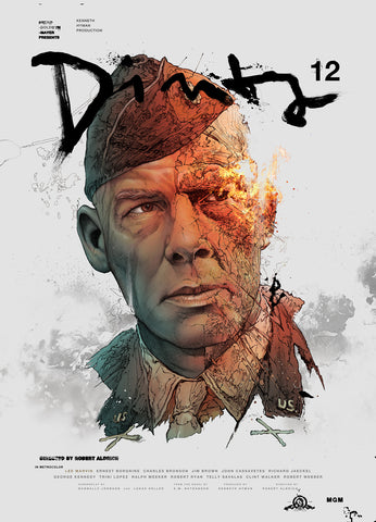 The movie poster for The Dirty Dozen by Grzegorz Domaradzki