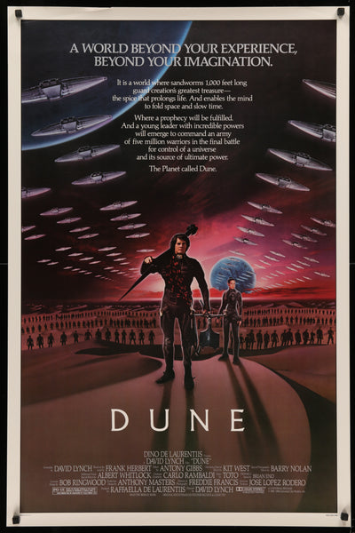 An original movie poster for the film Dune