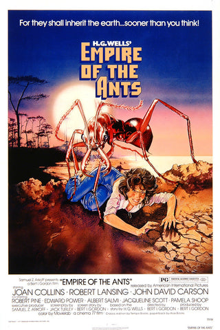 An original movie poster for the film Empire of the Ants