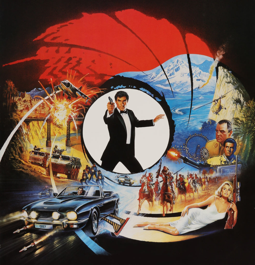 The Living Daylights movie poster by Brian Bysouth