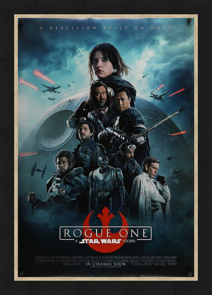 An original movie poster for the Star Wars film Rogue One
