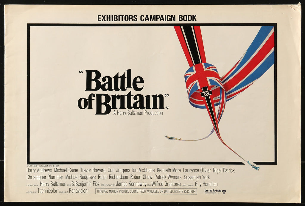 The front cover of the Press Book for the 1969 film The Battle of Britain