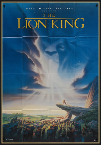 The movie poster for the Lion King by John Alvin