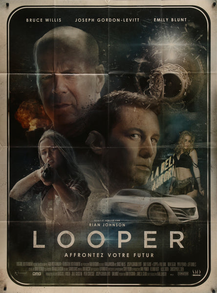 Richard Davies French movie poster for the film Looper