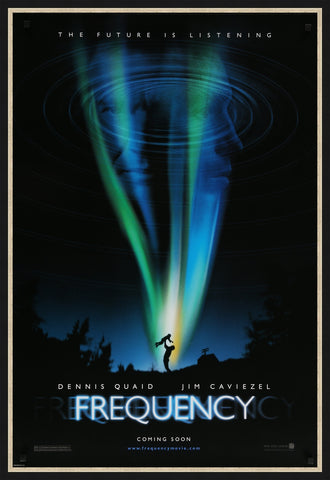 An original movie poster for the film Frequency