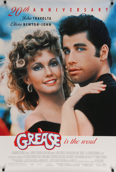 An original movie poster for the film Grease