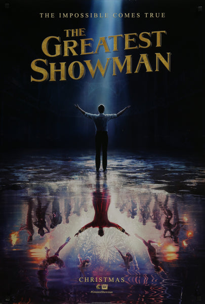 An original movie poster for the film The Greatest Showman