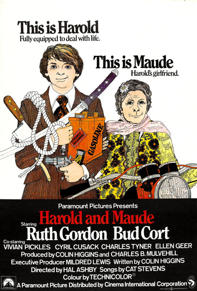 An original movie poster for the film Harold and Maude