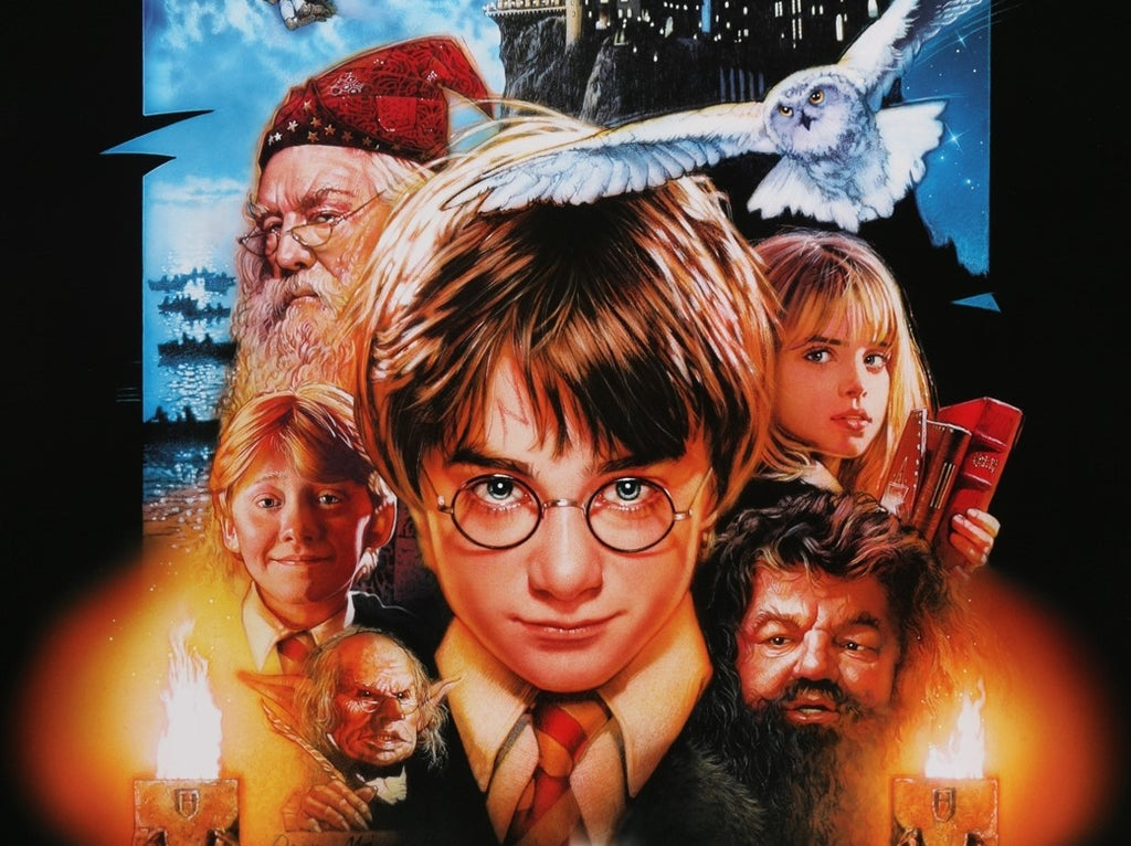 A close up from the Drew Struzan poster for Harry Potter and the Phliosopher's Stone