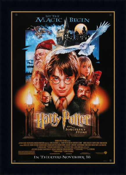 An original one sheet movie poster for the film Harry Potter and the Philosopher's / Sorcerer's Stone