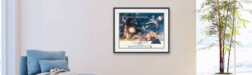 An original half sheet movie poster for Star Wars - A New Hope