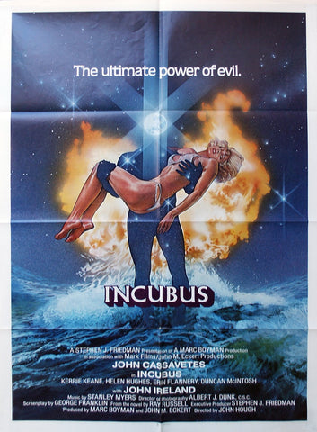 A movie poster for the film Incubus
