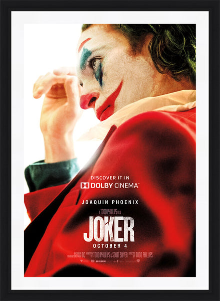 An original Dolby movie poster for the film Joker with Joaquin Phoenix