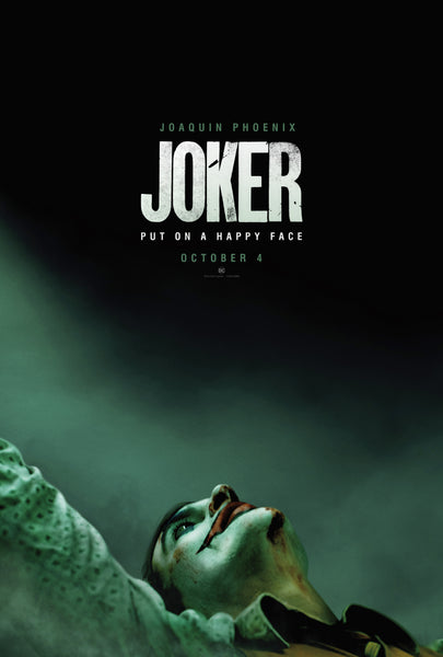 An original movie poster for the film Joker