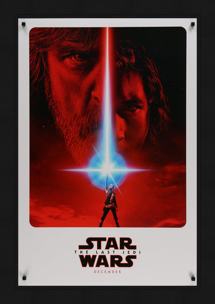 An original movie poster for the Star Wars film The Last Jedi