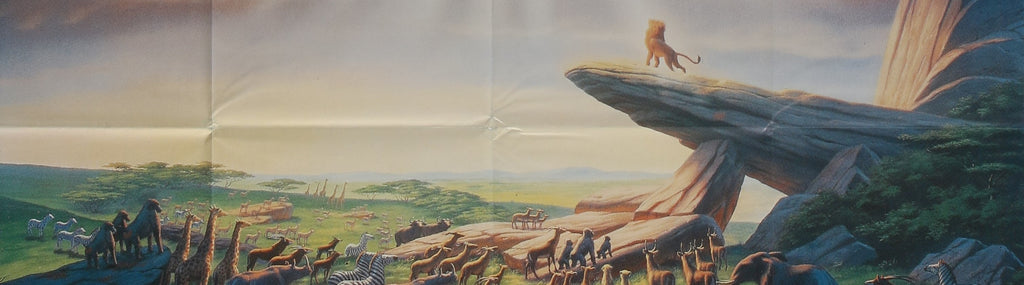 A close up detail from a movie / film poster for The Lion King