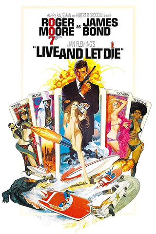 The movie poster for the James Bond film Live and Let Die