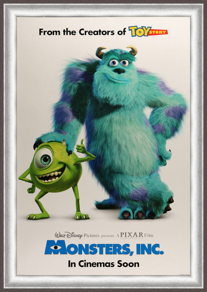 An original movie poster for the film Monsters Inc