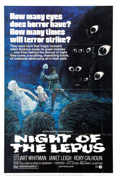 An original movie poster for the film Night Of The Lepus