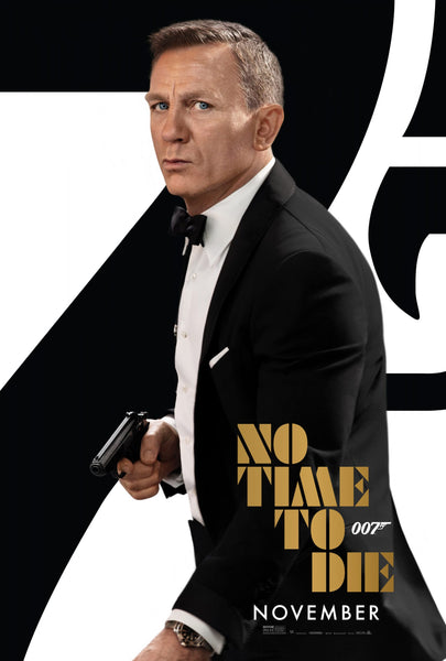 An original movie poster from the James Bond film No Time To Die